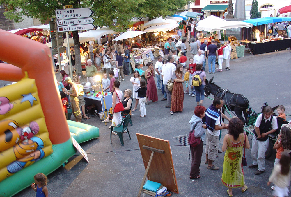 night market at Massat (Ariège - French Pyrenees)