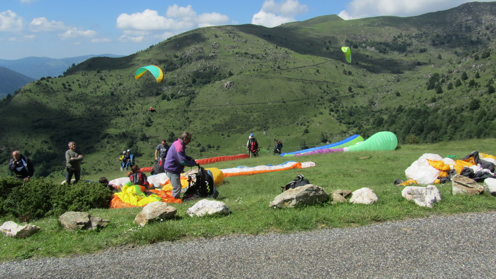 Port de Lers start point for paragliders